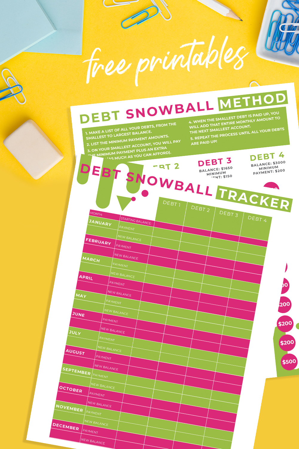 Debt Snowball Method Printable