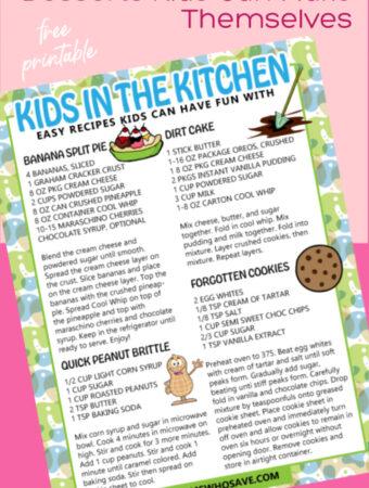kid chef recipes