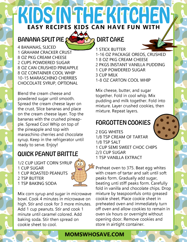 Desserts for kids to make by themselves