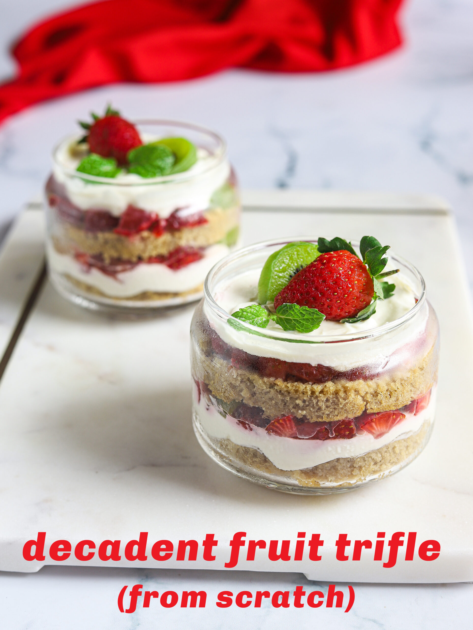 decadent fruit trifle