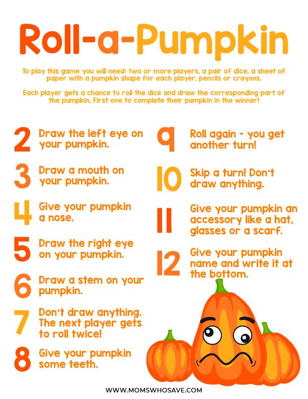 Roll a Pumpkin Game
