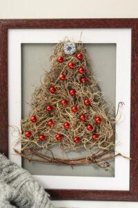 Framed Christmas Tree Craft