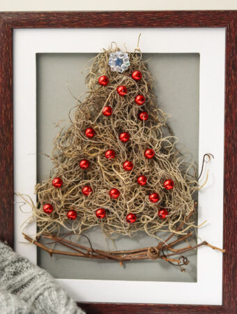 Framed Christmas Tree Craft