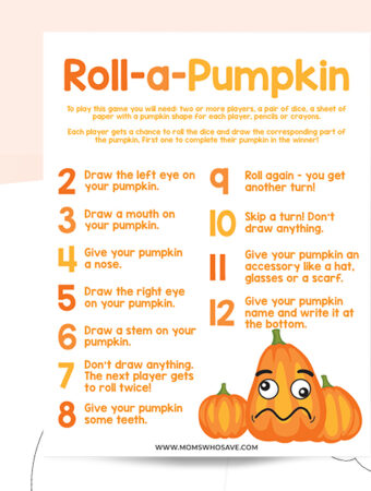 Pumpkin game printable