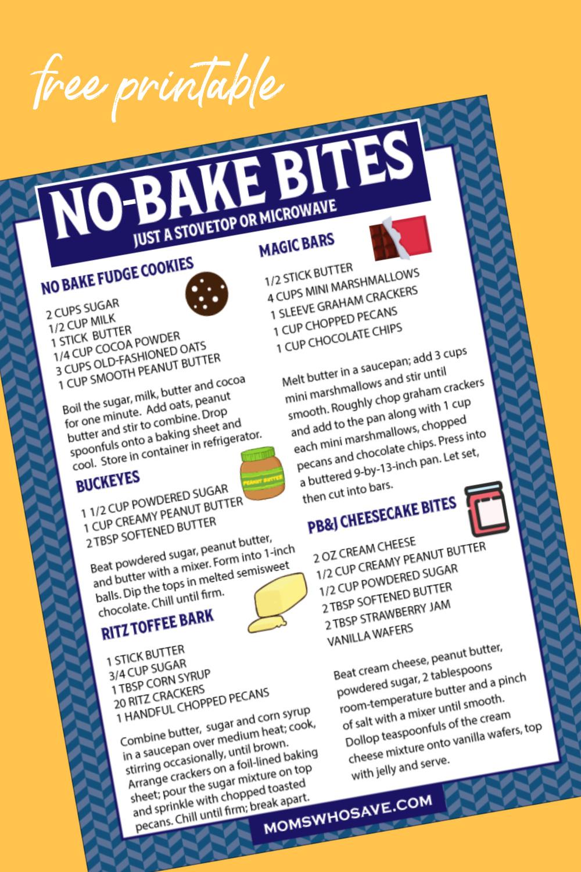 no bake bites