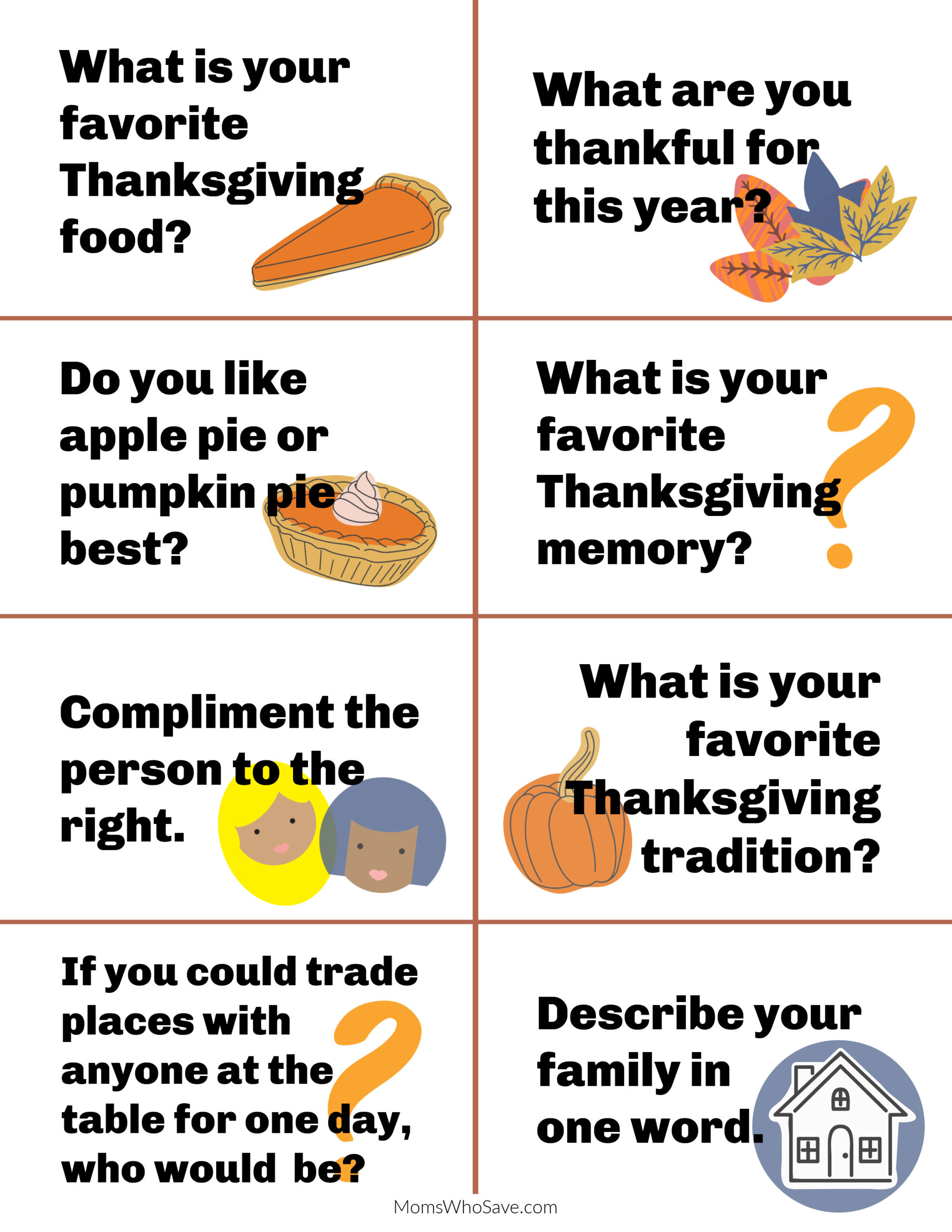thanksgiving conversation starters for kids