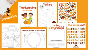 kids thanksgiving printables