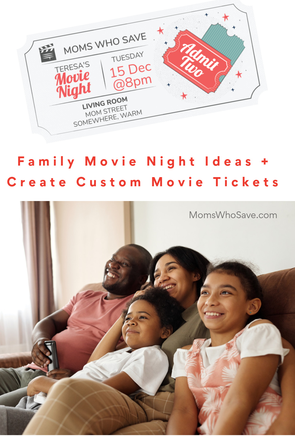 custom movie tickets