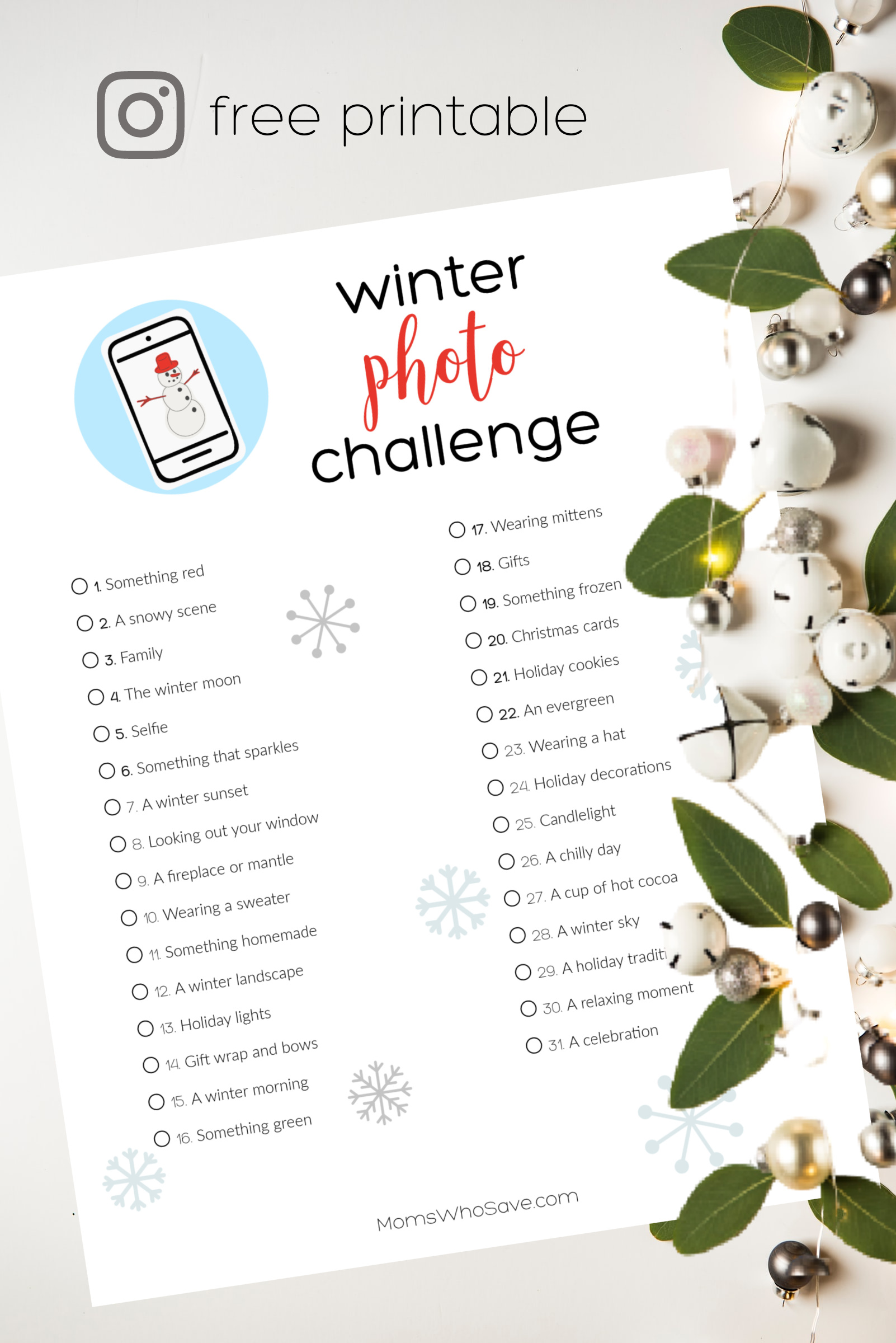 winter photo challenge