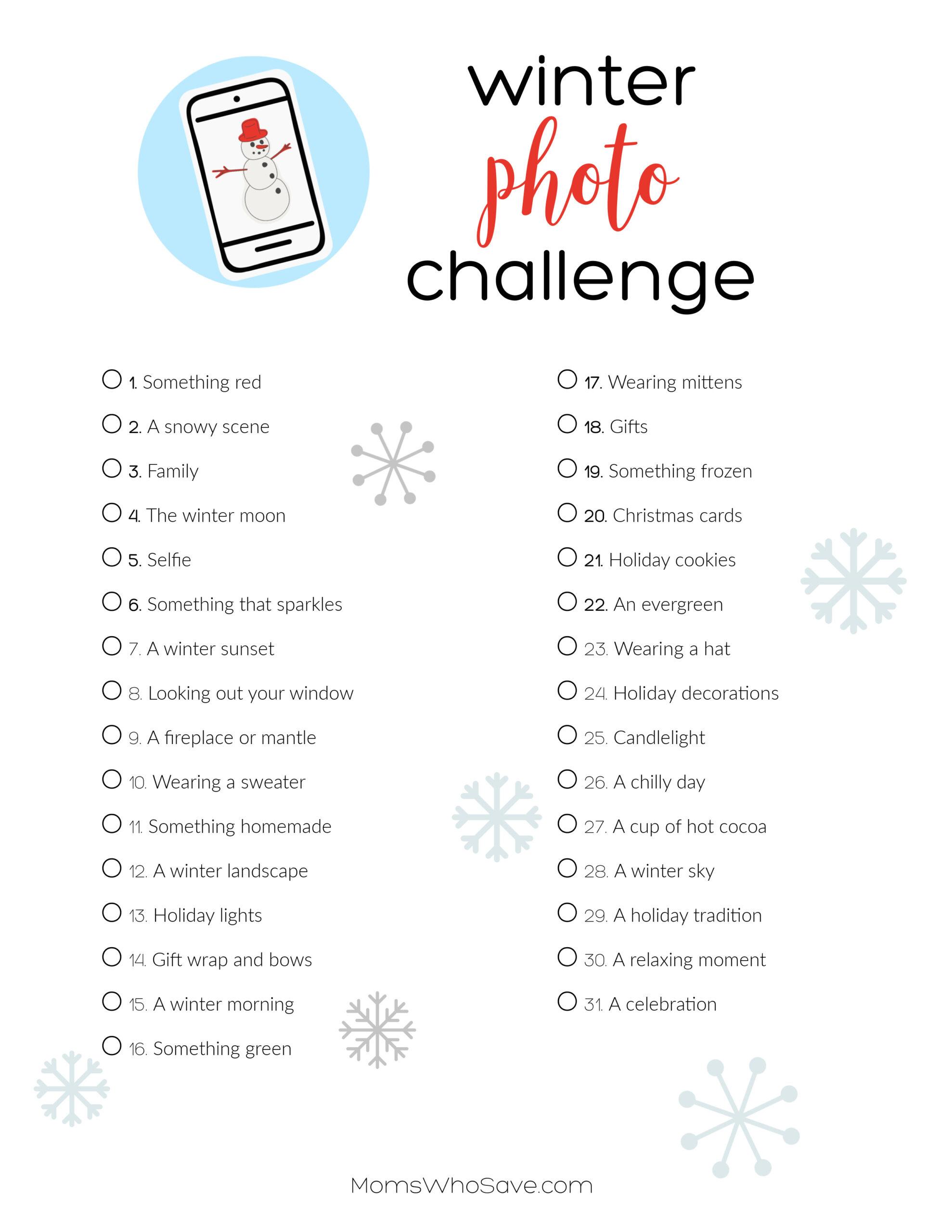 winter photo challenge