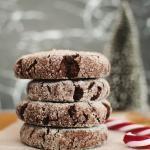 vegan crinkle cookies