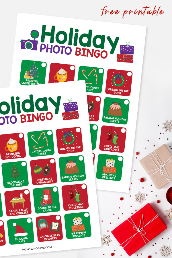 free holiday photo bingo game for kids