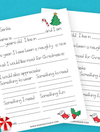 Christmas letter to santa template
