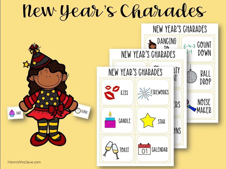 Charades for kids printable