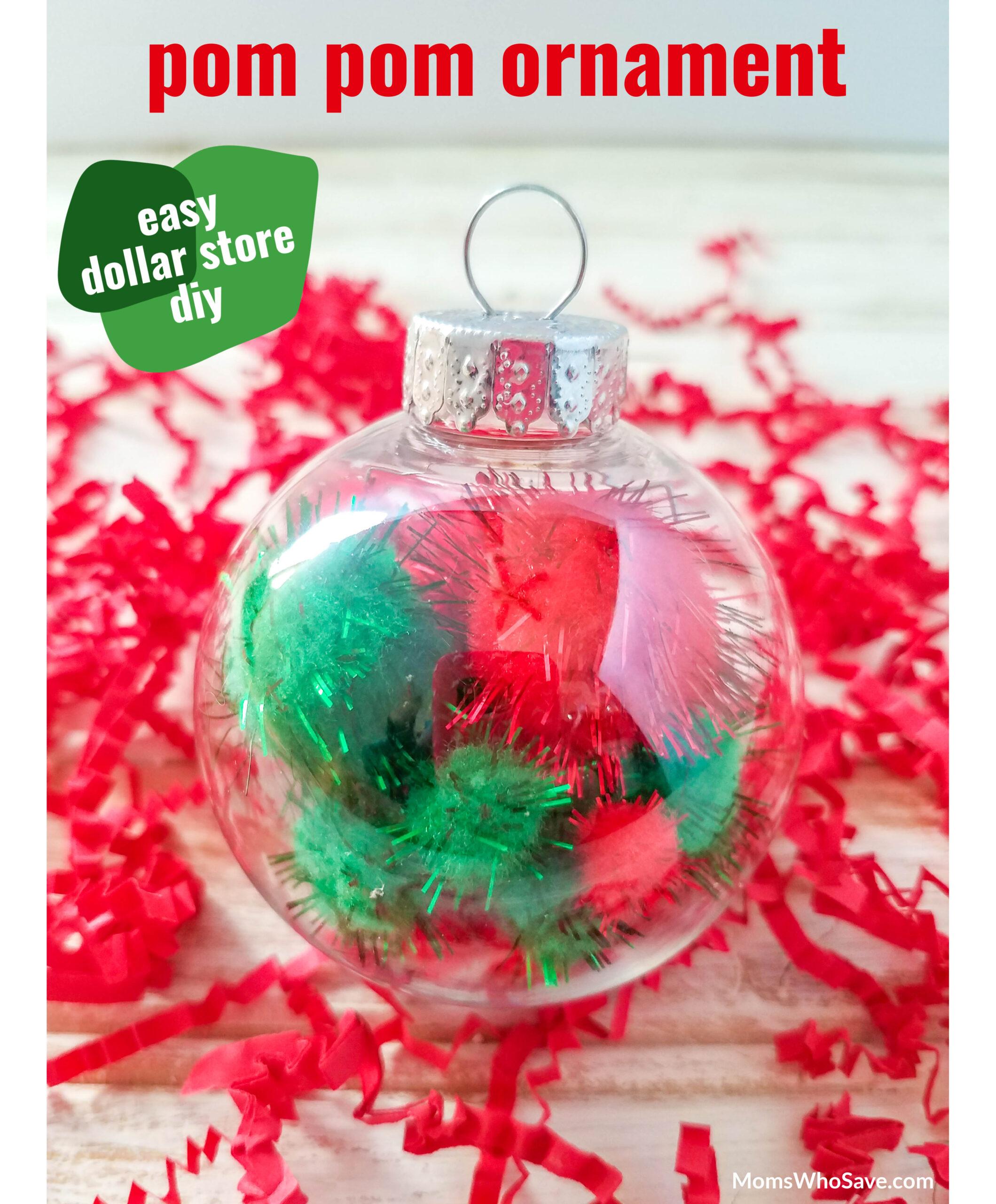 Pom Pom Ornaments DIY