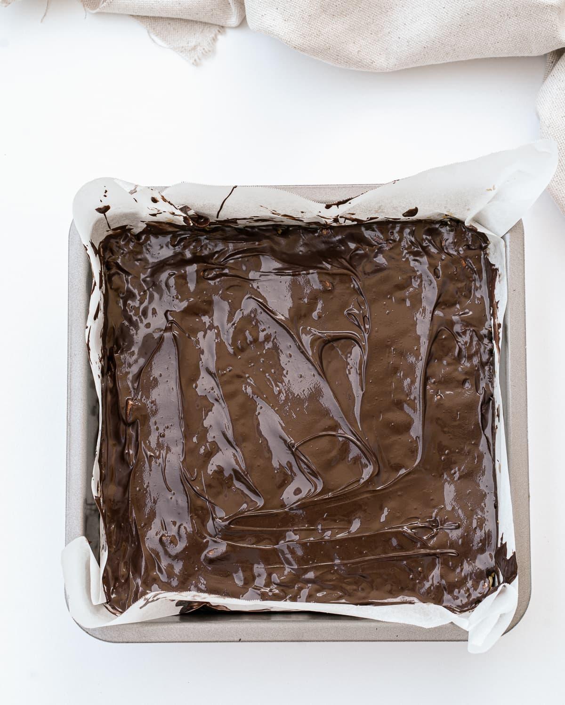 Vegan chocolate rice krispie bars