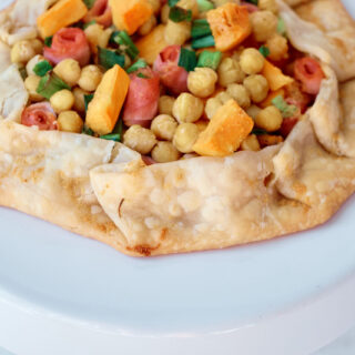 Make This Savory Chickpea Galette with Ham and Sweet Potatoes