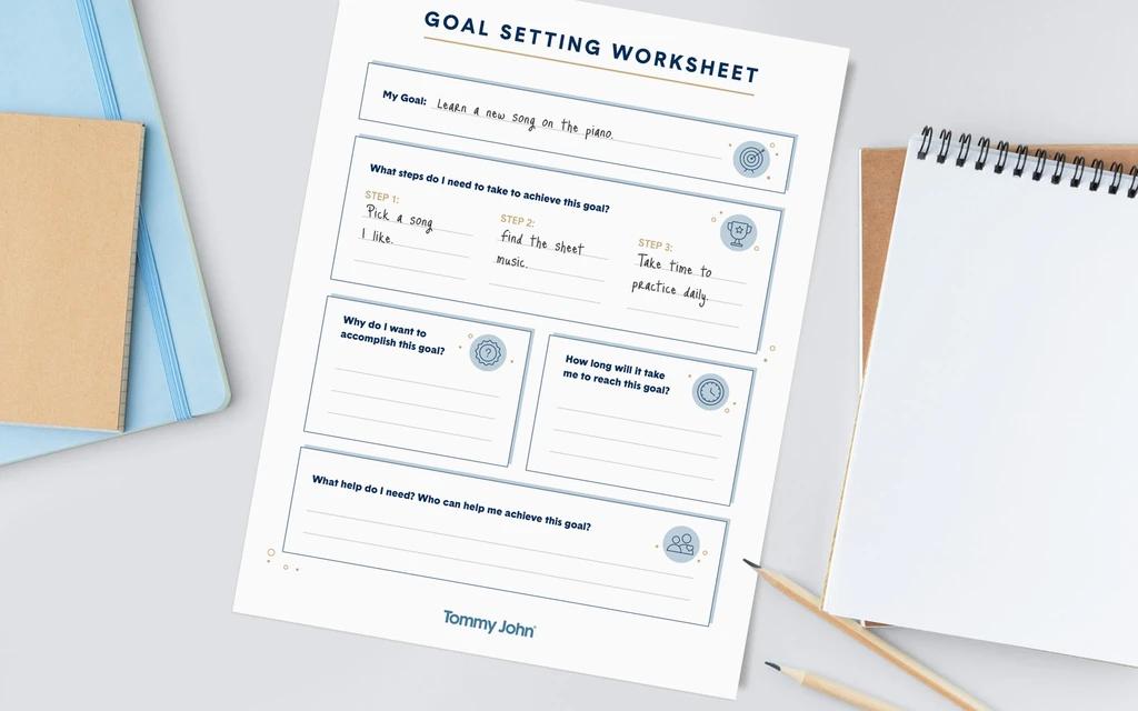 Goal-Setting Worksheet for Kids