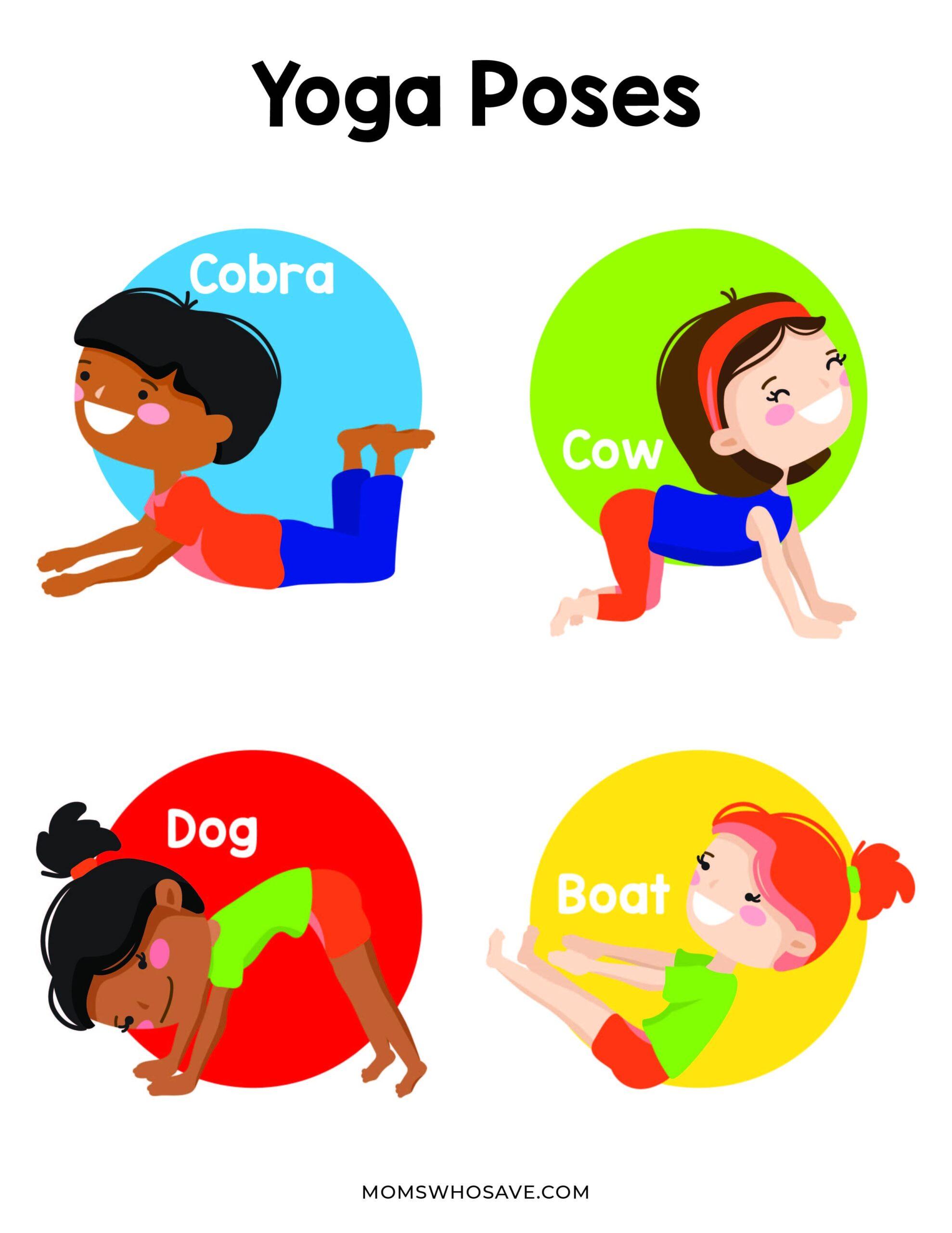 yoga for kids printable
