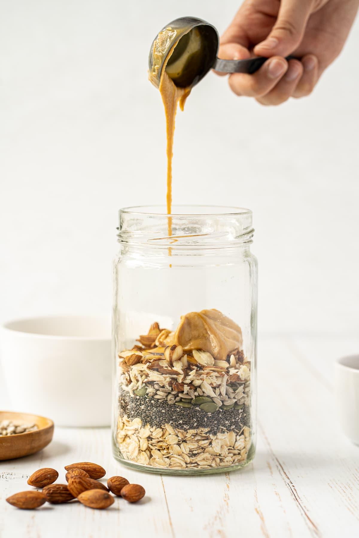 plant-based overnight oats