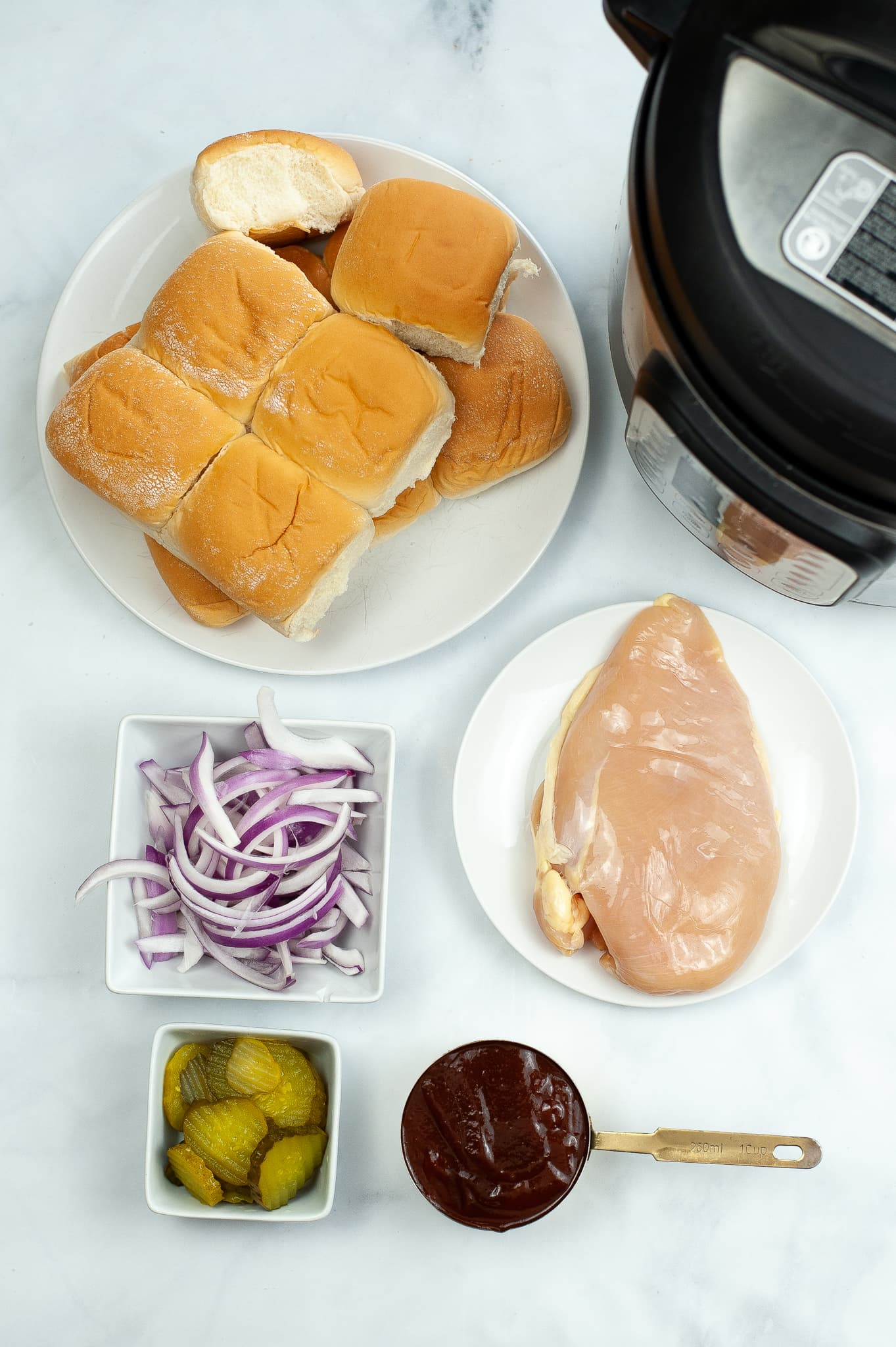 SHREDDED BBQ CHICKEN INSTANT POT
