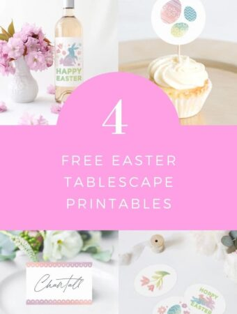 easter tablescape printables
