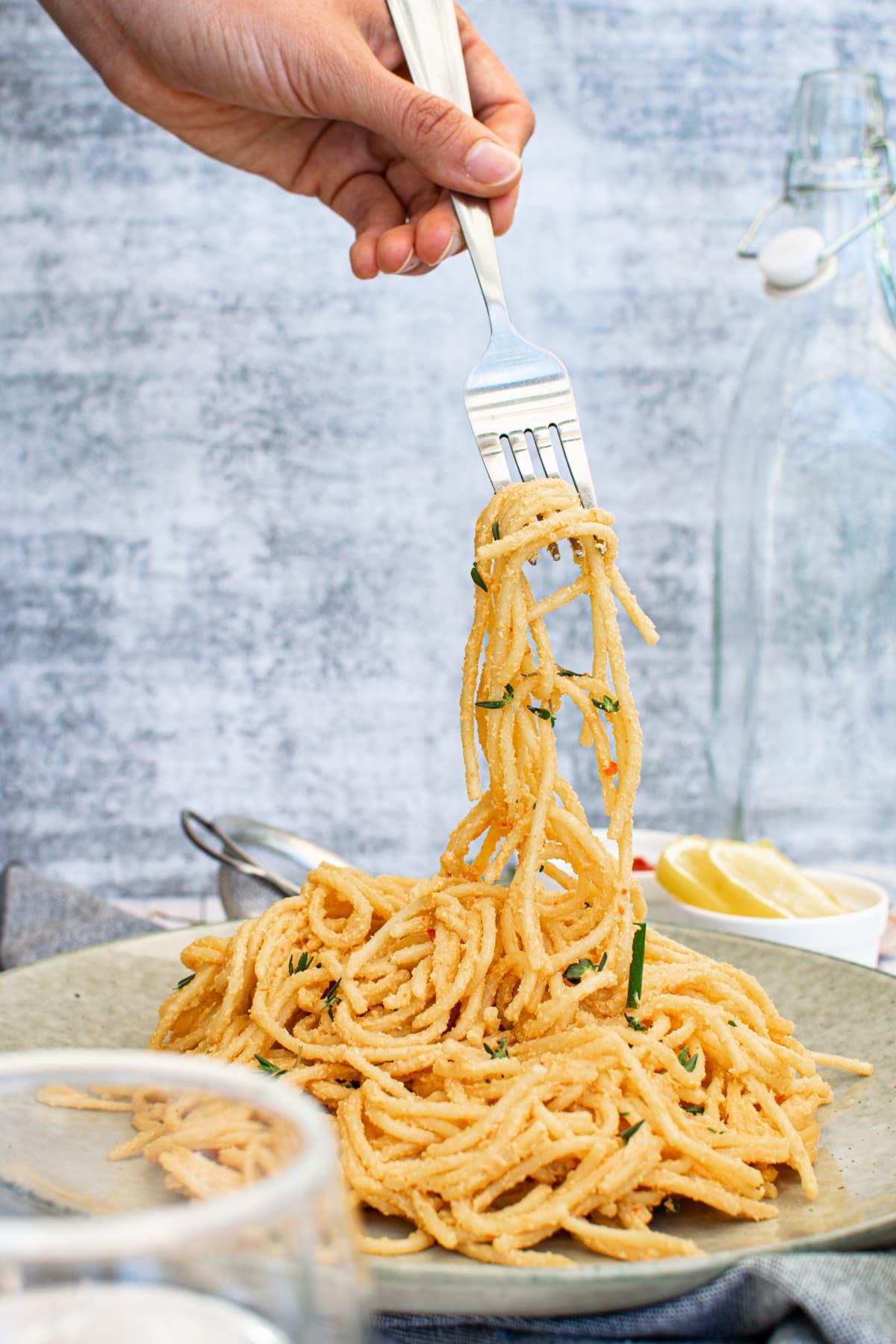vegan roasted red pepper pasta