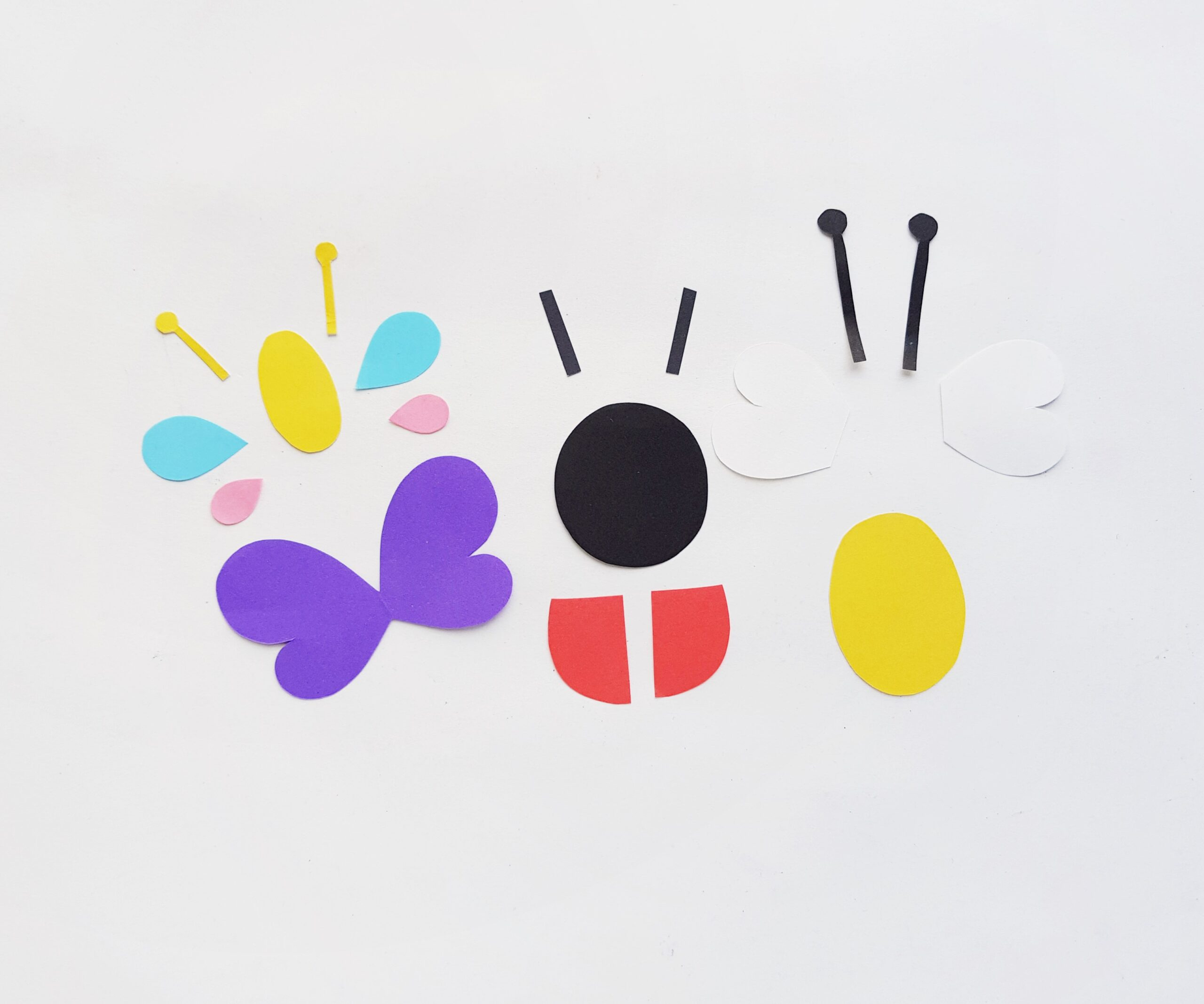 flower and insect puppets