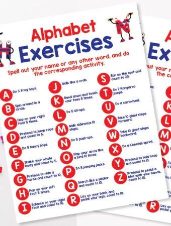 alphabet exercises workout