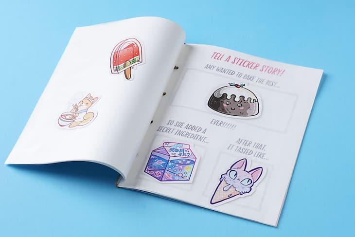 DIY sticker book story