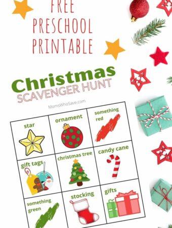 Christmas scavenger hunt printable pdf